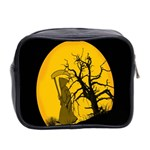 Death Haloween Background Card Mini Toiletries Bag 2-Side Back