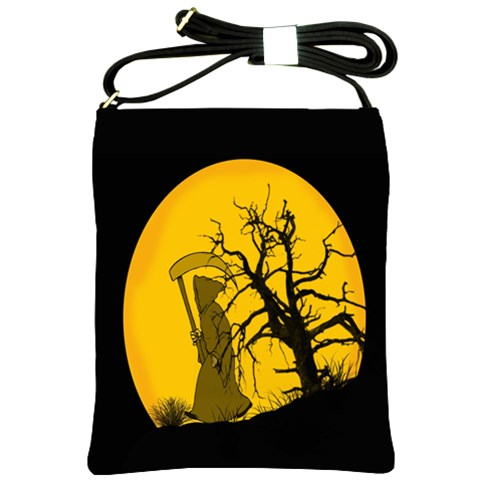 Death Haloween Background Card Shoulder Sling Bags