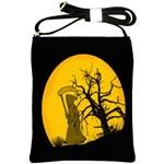 Death Haloween Background Card Shoulder Sling Bags Front