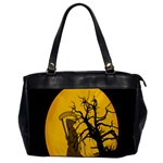 Death Haloween Background Card Office Handbags Front