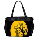 Death Haloween Background Card Office Handbags (2 Sides)  Front