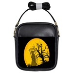 Death Haloween Background Card Girls Sling Bags Front