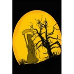 Death Haloween Background Card 5.5  x 8.5  Notebooks Back Cover Inside