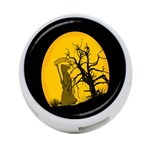 Death Haloween Background Card 4-Port USB Hub (Two Sides)  Front