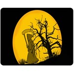 Death Haloween Background Card Fleece Blanket (Medium)  60 x50 Blanket Front