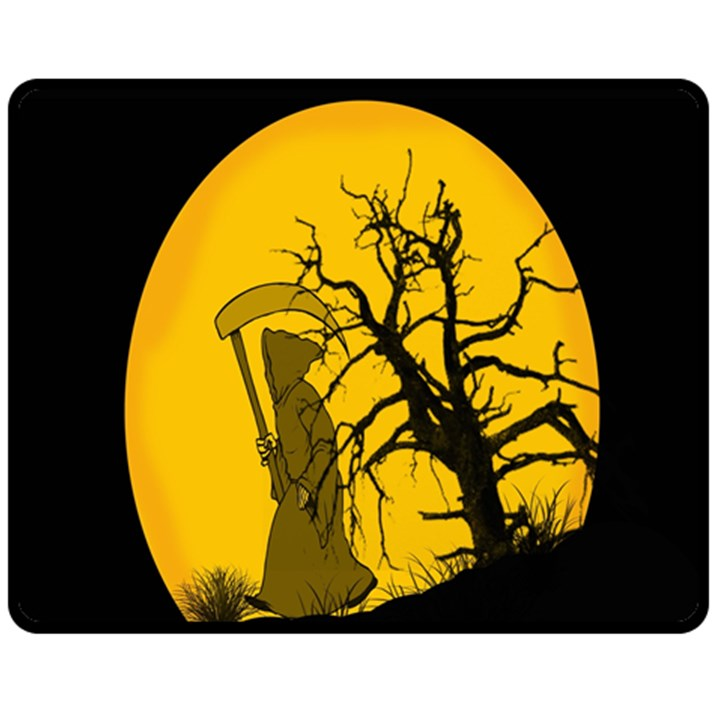 Death Haloween Background Card Fleece Blanket (Medium)
