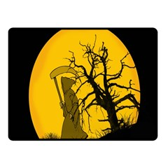Death Haloween Background Card Fleece Blanket (Small)