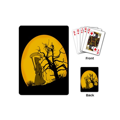 Death Haloween Background Card Playing Cards (Mini)