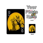 Death Haloween Background Card Playing Cards 54 (Mini)  Front - SpadeQ