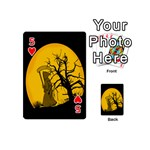 Death Haloween Background Card Playing Cards 54 (Mini)  Front - Heart5