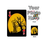 Death Haloween Background Card Playing Cards 54 (Mini)  Front - Heart6