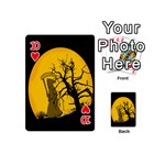 Death Haloween Background Card Playing Cards 54 (Mini)  Front - Heart10