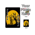 Death Haloween Background Card Playing Cards 54 (Mini)  Front - Joker1