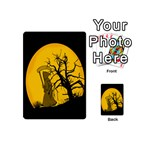 Death Haloween Background Card Playing Cards 54 (Mini)  Back
