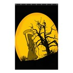 Death Haloween Background Card Shower Curtain 48  x 72  (Small)  42.18 x64.8 Curtain