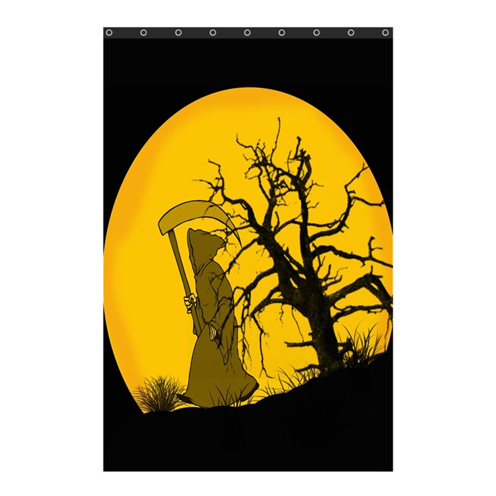 Death Haloween Background Card Shower Curtain 48  x 72  (Small)
