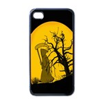Death Haloween Background Card Apple iPhone 4 Case (Black) Front