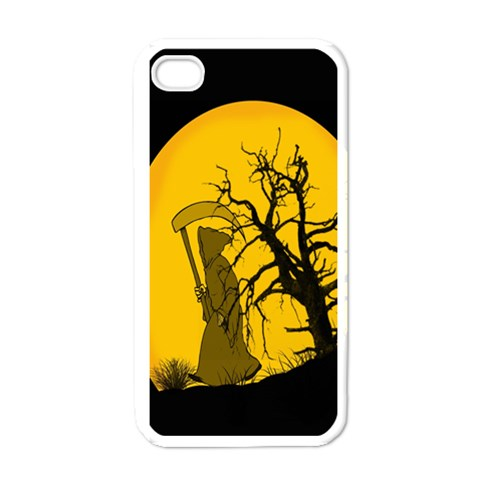 Death Haloween Background Card Apple iPhone 4 Case (White)