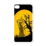 Death Haloween Background Card Apple iPhone 4 Case (White) Front