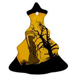Death Haloween Background Card Christmas Tree Ornament (2 Sides) Back