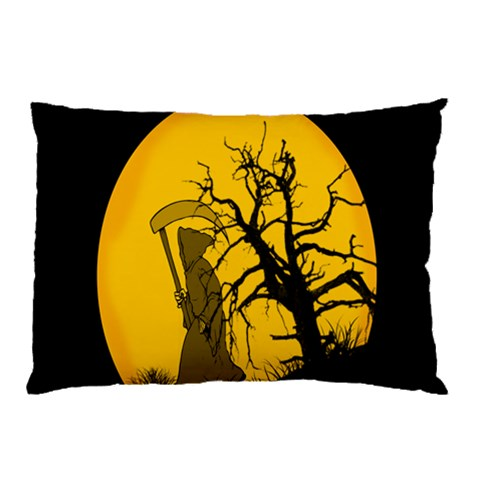 Death Haloween Background Card Pillow Case (Two Sides)