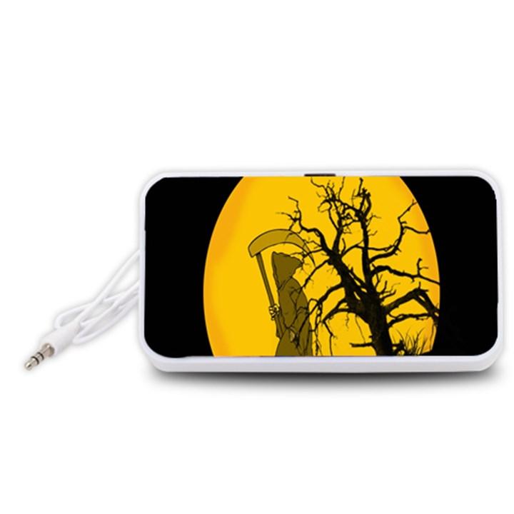 Death Haloween Background Card Portable Speaker (White)