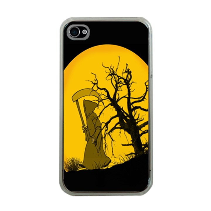 Death Haloween Background Card Apple iPhone 4 Case (Clear)