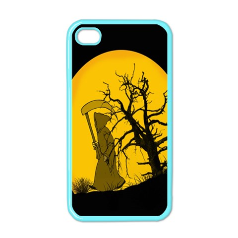 Death Haloween Background Card Apple iPhone 4 Case (Color)