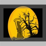 Death Haloween Background Card Deluxe Canvas 16  x 12   16  x 12  x 1.5  Stretched Canvas