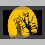 Death Haloween Background Card Deluxe Canvas 18  x 12   18  x 12  x 1.5  Stretched Canvas