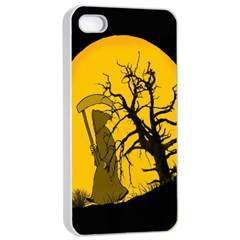 Death Haloween Background Card Apple iPhone 4/4s Seamless Case (White)