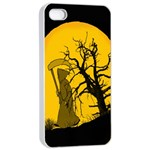 Death Haloween Background Card Apple iPhone 4/4s Seamless Case (White) Front