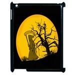 Death Haloween Background Card Apple iPad 2 Case (Black) Front