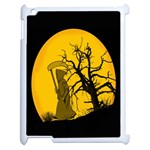 Death Haloween Background Card Apple iPad 2 Case (White) Front