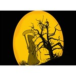 Death Haloween Background Card BOY 3D Greeting Card (7x5) Front