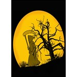 Death Haloween Background Card GIRL 3D Greeting Card (7x5) Inside