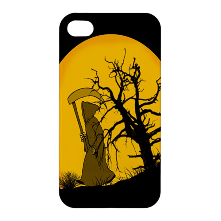 Death Haloween Background Card Apple iPhone 4/4S Hardshell Case