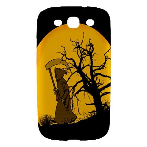Death Haloween Background Card Samsung Galaxy S III Hardshell Case