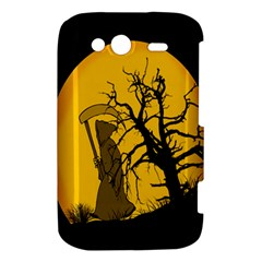 Death Haloween Background Card HTC Wildfire S A510e Hardshell Case