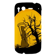 Death Haloween Background Card HTC Desire S Hardshell Case