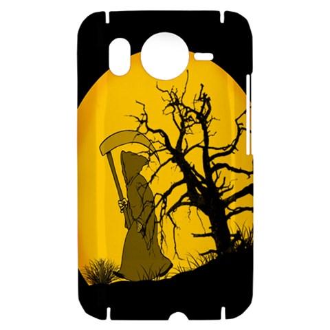 Death Haloween Background Card HTC Desire HD Hardshell Case