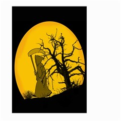 Death Haloween Background Card Large Garden Flag (Two Sides)