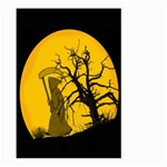Death Haloween Background Card Large Garden Flag (Two Sides) Front