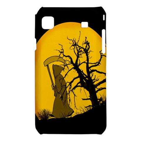 Death Haloween Background Card Samsung Galaxy S i9008 Hardshell Case