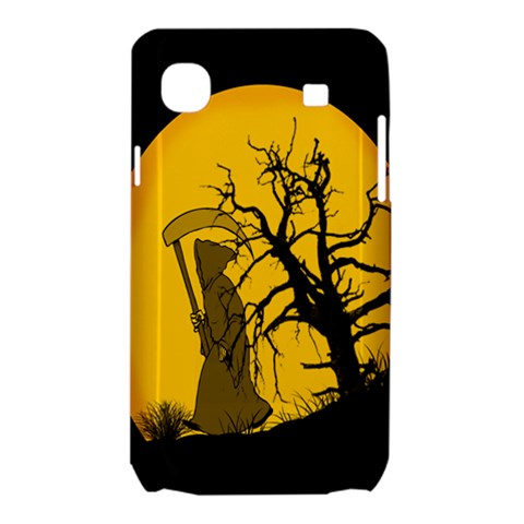 Death Haloween Background Card Samsung Galaxy SL i9003 Hardshell Case