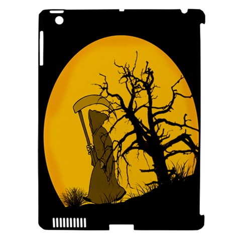 Death Haloween Background Card Apple iPad 3/4 Hardshell Case (Compatible with Smart Cover)