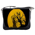 Death Haloween Background Card Messenger Bags Front