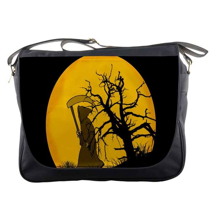 Death Haloween Background Card Messenger Bags