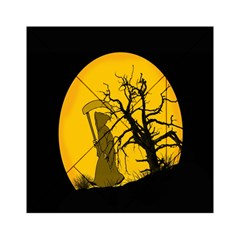 Death Haloween Background Card Acrylic Tangram Puzzle (6  x 6 )