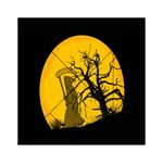 Death Haloween Background Card Acrylic Tangram Puzzle (6  x 6 ) Front